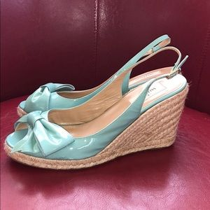 Valentino Wedges size 40 1/2. Excellent Condition